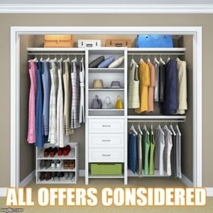Make offers! Check out my closet.
